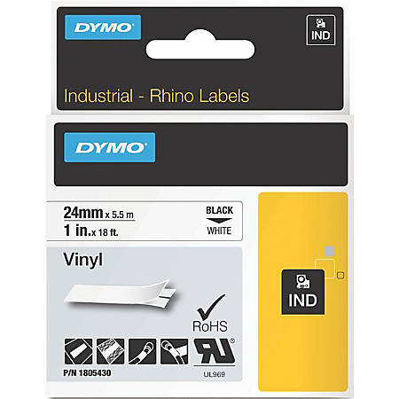 DYMO® Black on White Color Coded Labels, 10536501