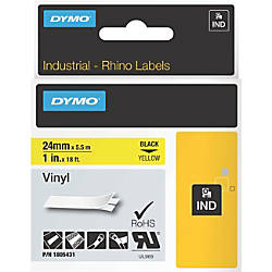 DYMO Black on Yellow Color Coded