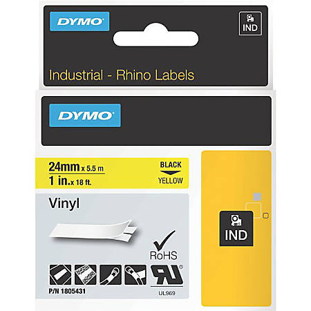 DYMO® Black on Yellow Color Coded Label 3052064