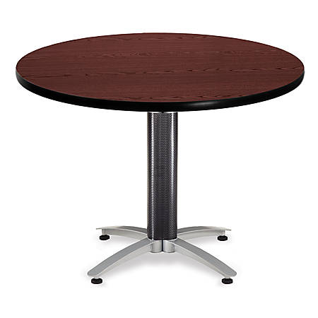 "OFM Multipurpose Table, Round, 42""W x 42""D, Mahogany"
