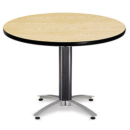 "OFM Multipurpose Table, Round, 42""W x 42""D, Oak"