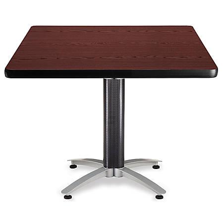 "OFM Multipurpose Table, Square, 42""W x 42""D, Mahogany"