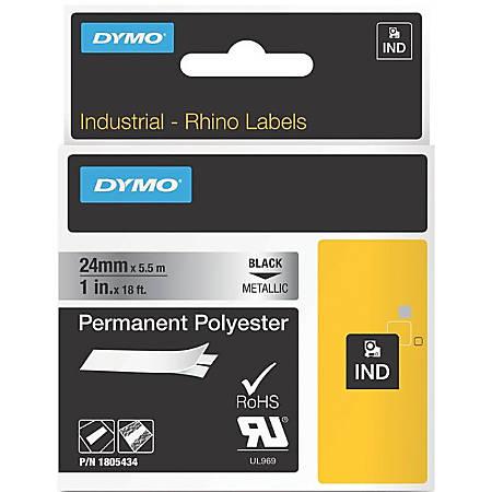 DYMO® Black on Metallic ID Labels, 10536505
