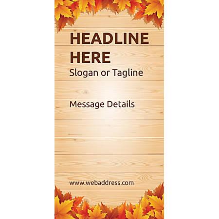 Custom Vertical Banner, Autumn Leaves