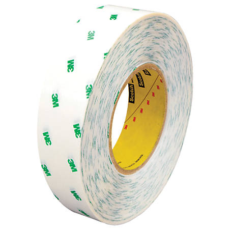 "Scotch® 966 Adhesive Transfer Tape Hand Rolls, 3"" Core, 1"" x 60 Yd., Clear, Case Of 36"