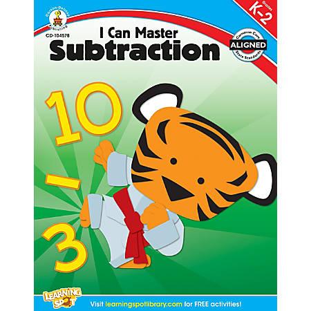 Carson-Dellosa I Can Master Subtraction Workbook, Grades K-2