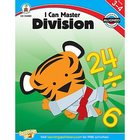 Carson-Dellosa I Can Master Division Workbook, Grades 3-4