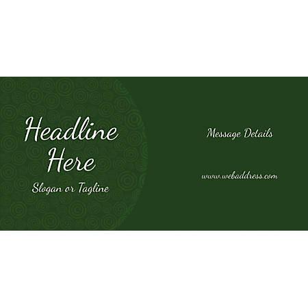 Custom Horizontal Banner, Green Abstract Circles