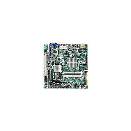 Supermicro X9SCAA Server Motherboard - Intel Chipset - Socket BGA-559 - Intel Atom N2800 - 4 GB DDR3 SDRAM Maximum RAM - DDR3-1333/PC3-10600, DDR3-1066/PC3-8500 - SoDIMM - 2 x Memory Slots - Gigabit Ethernet - 2 x USB 3.0 Port - HDMI - 2 x RJ-45