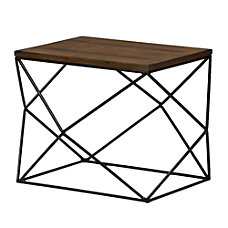 Baxton Studio Greta End Table Multicolor