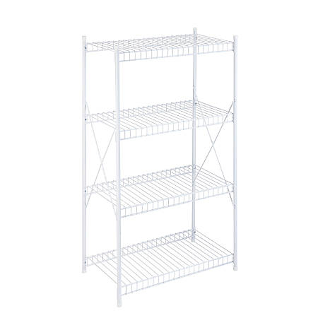 Honey-Can-Do Steel Storage Shelf, 4-Tiers, White