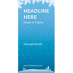 Custom Vertical Display Banner Winter Snowflakes