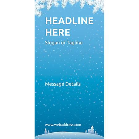 Custom Vertical Display Banner, Winter Snowflakes