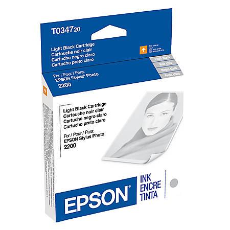 Epson® T0347 (T034720) UltraChrome™ Light Black Ink Cartridge