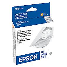 Epson T0347 T034720 UltraChrome Light Black