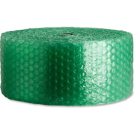 """Sparco 300' Recycled Bubble Cushioning - 12"""" Width x 300 ft Length - 0.2"""" Bubble Size - Eco-friendly, Flexible, Lightweight - Green"""