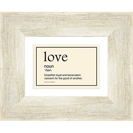 """PTM Images Expressions Framed Wall Art, Love I, 9""""H x 11""""W, Driftwood"""