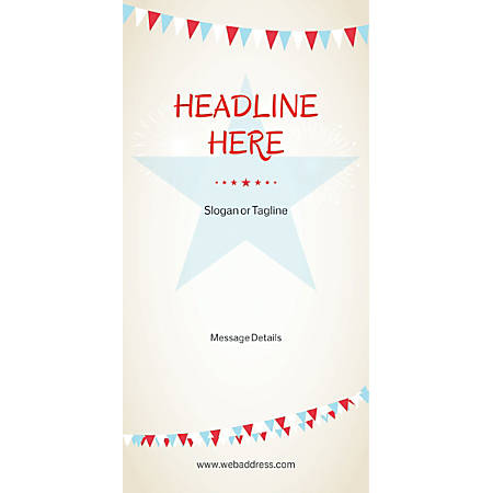Custom Vertical Display Banner, Bunting Star
