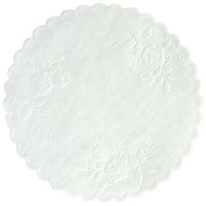 Hoffmaster Round Rose Doilies 6 White