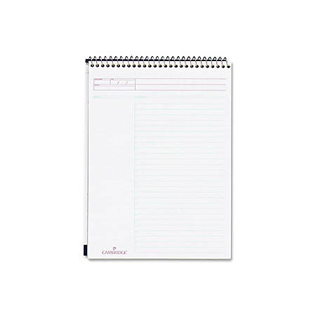 "Mead Wirebound ActionTask Planner - Action - 8 1/2"" x 11"" - White - Paper - Micro Perforated"