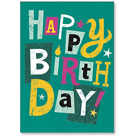 """Viabella Birthday Greeting Card With Envelope, Bright And Happy, 5"""" x 7"""""""