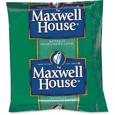 Maxwell House® Pre-Measured Decaffeinated Coffee Single-Serve Packets, 1.1 Oz, Carton Of 42