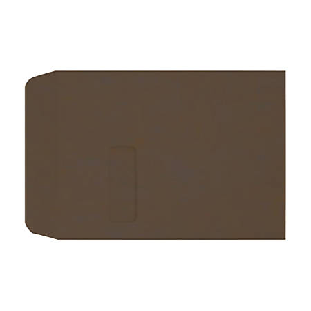 "LUX Open-End Window Envelopes With Moisture Closure, #9 1/2, 9"" x 12"", Chocolate, Pack Of 1,000"
