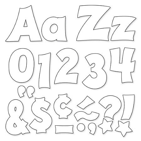 "TREND Ready Letters®, Friendly Uppercase/Lowercase Combo, 4"", White, Pre-K - Grade 12, Pack Of 225"