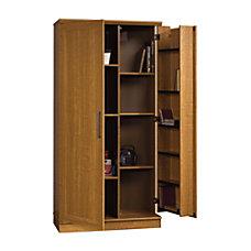 Realspace Storage Cabinet Sienna Oak