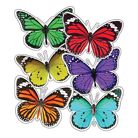 Schoolgirl Style Cut-Out Decorations, Woodland Whimsy Butterflies, Pack Of 36 Decorations