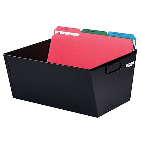 Steelmaster® 58% Recycled Posting Tub, Legal Size, Black