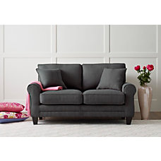 Serta Copenhagen Deep Seating Loveseat GrayEspresso
