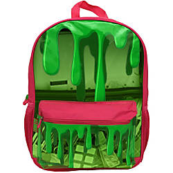 Nickelodeon Slime Backpack Slime Print PinkGreen