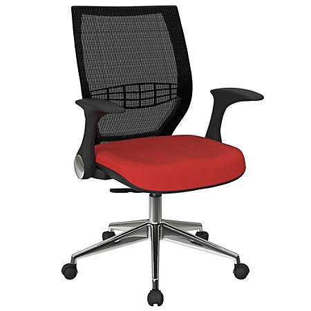 Office Star™ Pro-Line II ProGrid Fabric High-Back Chair, Red/Black/Silver