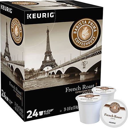 Barista Prima Coffeehouse® French Roast Coffee K-Cups®, 0.31 Oz., Box Of 24