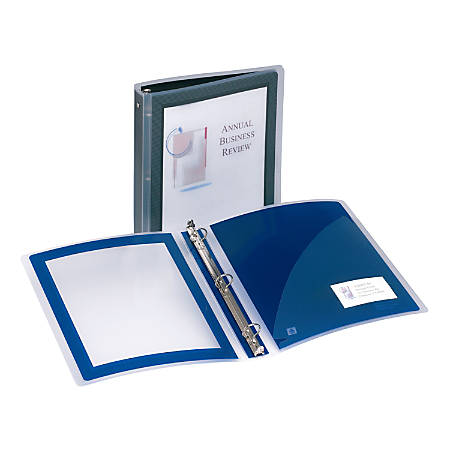 "Avery® Flexi-View™ Binder, With Poly Extended Cover, 1"" Rings, Black"
