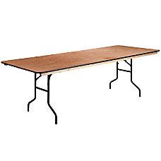 Flash Furniture Rectangular Wood Folding Banquet
