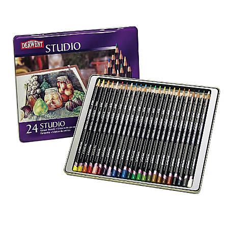 Derwent Studio Pencil Set, Assorted Colors, Set Of 24 Pencils
