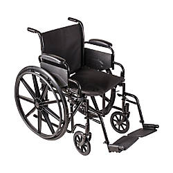 DMI Carbon Steel Folding Wheelchair 37