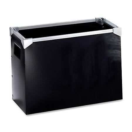 Oxford® Poly Desktop File, Letter Size, Black