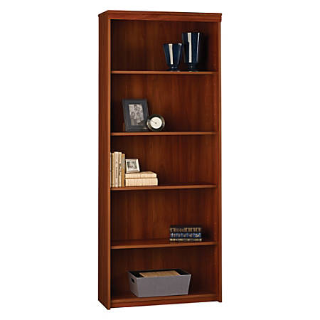 ameriwood westmont 5 shelf bookcase expert plum by office 88166