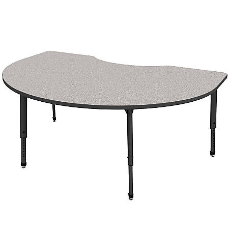 """Marco Group Apex™ Series Adjustable Height Kidney Table, 30""""H x 72""""W x 48""""D, Gray Nebula/Black"""