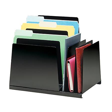 STEELMASTER® Steel Slanted Combination Organizer, Black