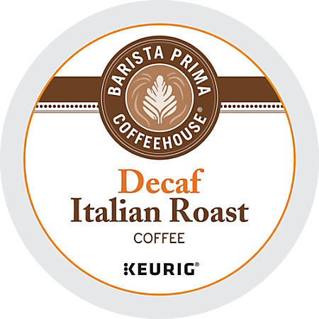 Barista Prima Coffeehouse® Italian Roast Decaffeinated Coffee K-Cups®, 0.31 Oz., Box Of 24