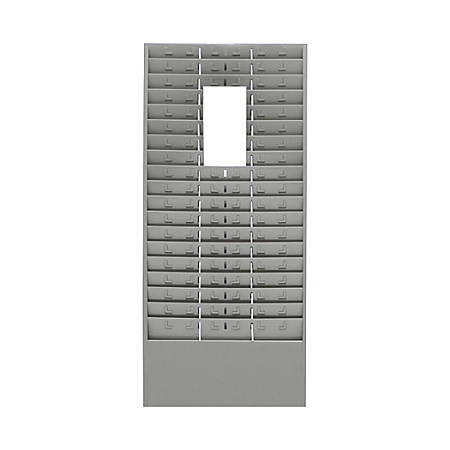 "MMF Time Card/Ticket Message Rack, 54 Pockets, 30"" x 13 5/8"" x 2"", Gray"