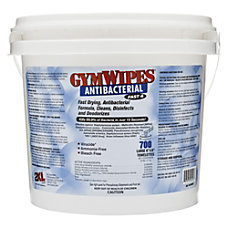 2XL Antibacterial GymWipes Unscented 6 x