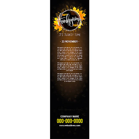 Vertical Banner Template, Black Board Texture