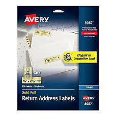 Avery Permanent Inkjet Foil Mailing Labels
