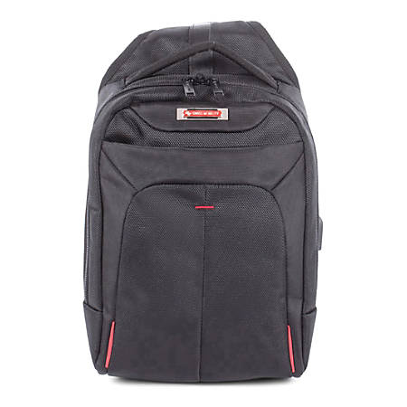 """Swiss Mobility Purpose Sling Backpack With 10"""" Tablet Pocket, Black"""