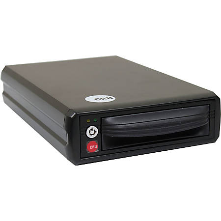 "CRU DataPort HotDock Drive Enclosure - USB 3.0, eSATA Host Interface External - 1 x 3.5"" Bay"